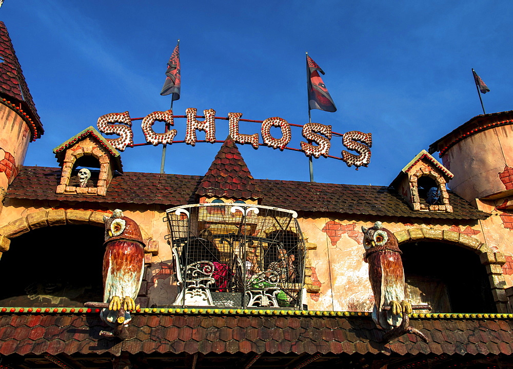 Geisterschloss, haunted castle, Oktoberfest, Theresienwiese, Munich, Upper Bavaria, Bavaria, Germany, Europe