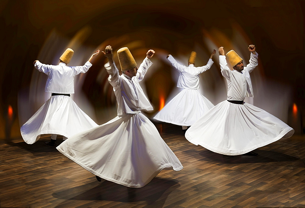 Whirling dervishes, show, Cappadocia, Turkey, Asia - 832-382538