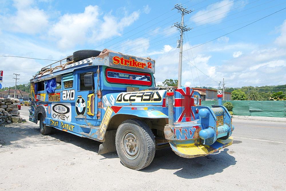 Jeepney bus, Bohol, Philippines, Asia