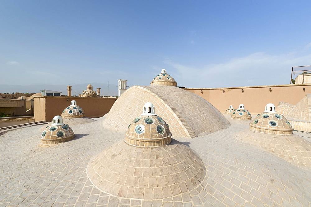 Roof of Sultan Mir Ahmed bathhouse, Kashan, Iran, Asia