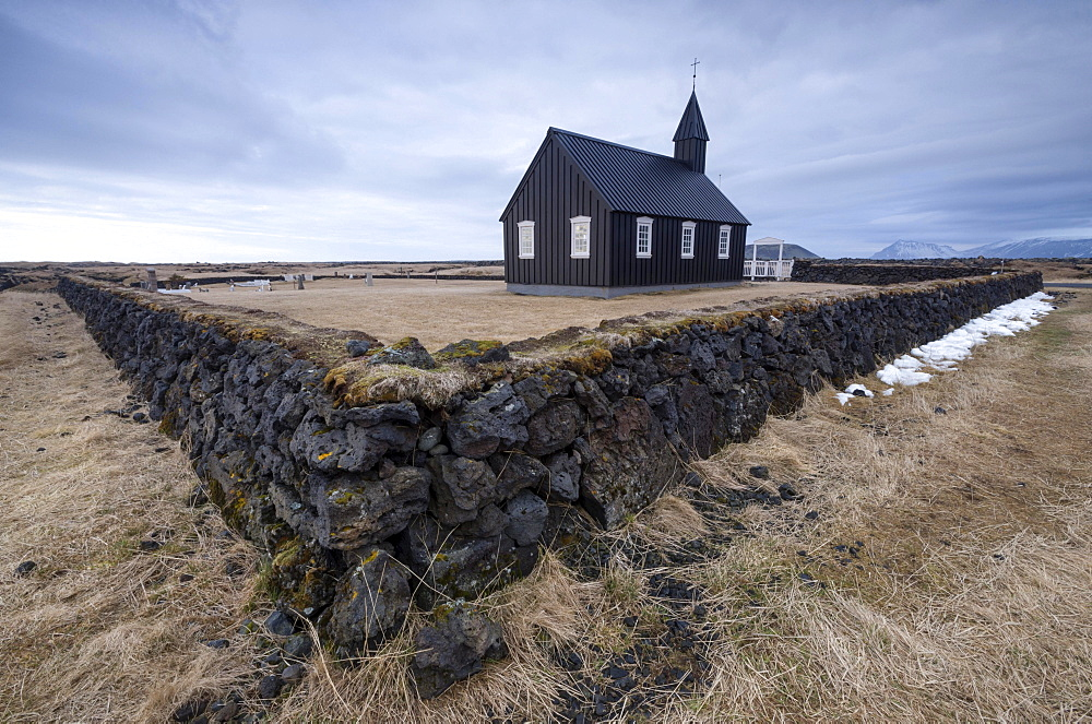 Black Church of Buoir, Snaefellsnes, Iceland, Europe - 832-383084
