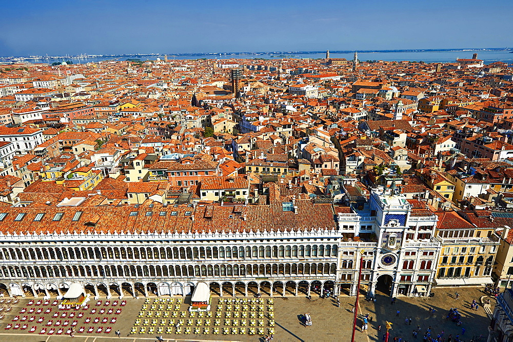 View of Saint Mark's Square, Venice, Veneto Region, Italy, Europe
