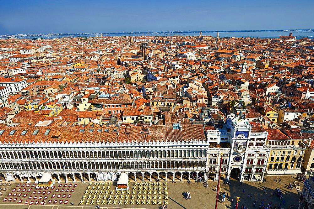 View of Saint Mark's Square, Venice, Veneto Region, Italy, Europe - 832-383112