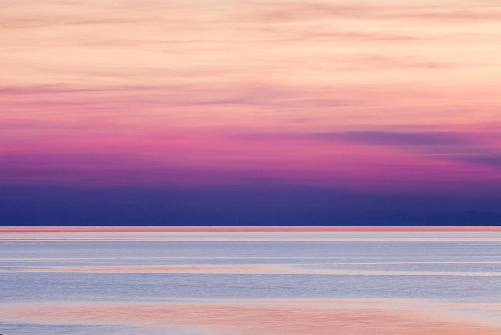 Afterglow, Makarska Riviera, Adriatic coast, Adriatic Sea, Dalmatia, Croatia, Europe - 832-383137