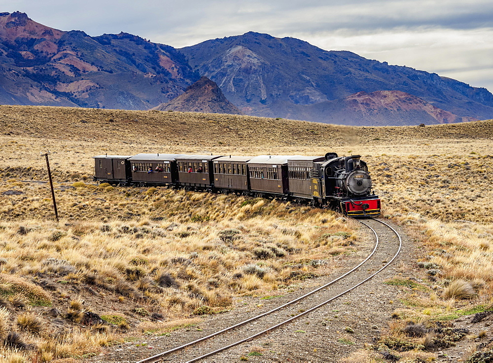 Old Patagonian Express La Trochita, steam train, Chubut Province, Patagonia, Argentina, South America - 832-383159