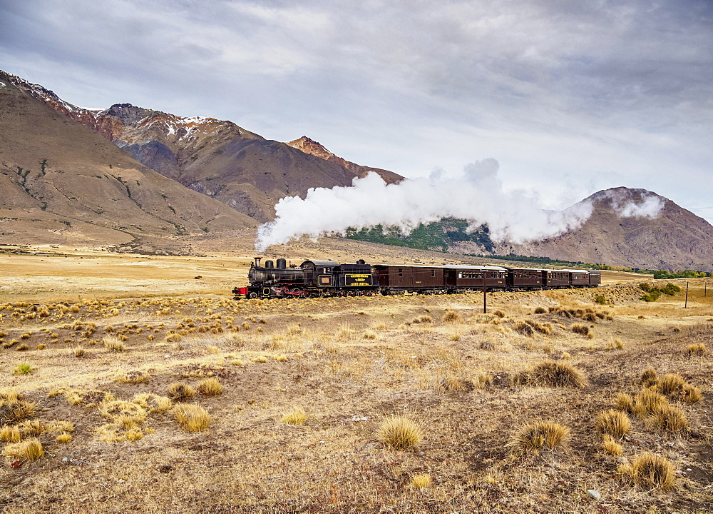Old Patagonian Express La Trochita, steam train, Chubut Province, Patagonia, Argentina, South America - 832-383170