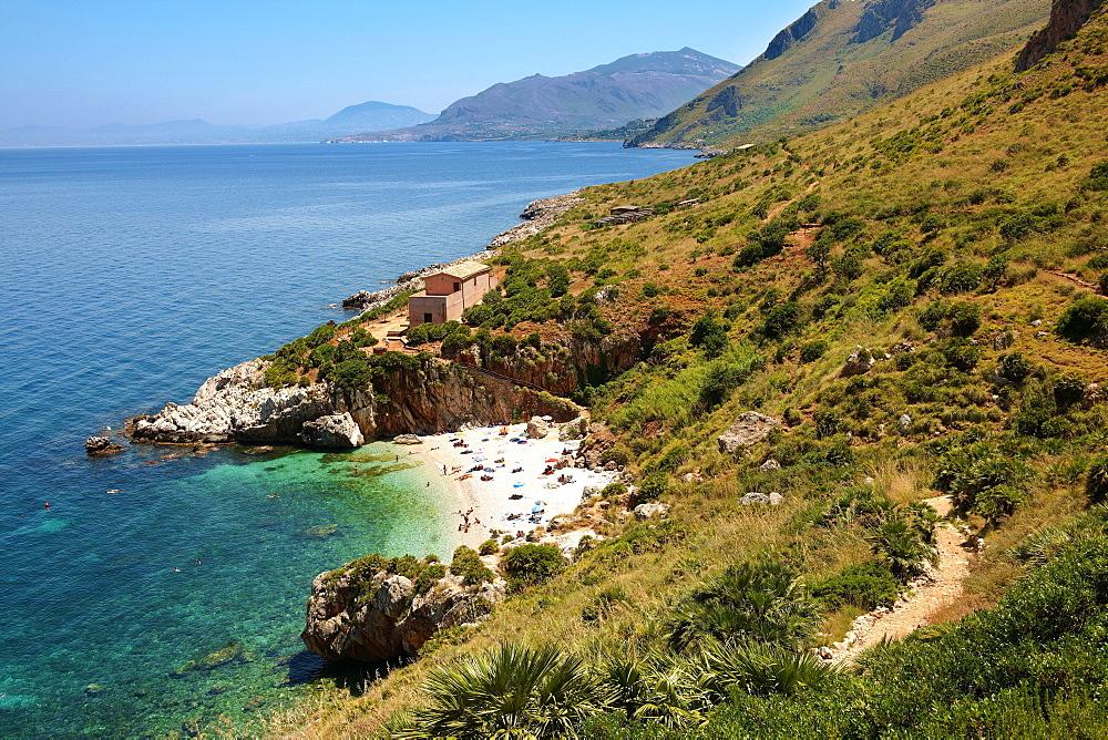 Coastline, Zingaro nature reserve, Scopello, Castellammare del Golfo, Sicily, Italy, Europe