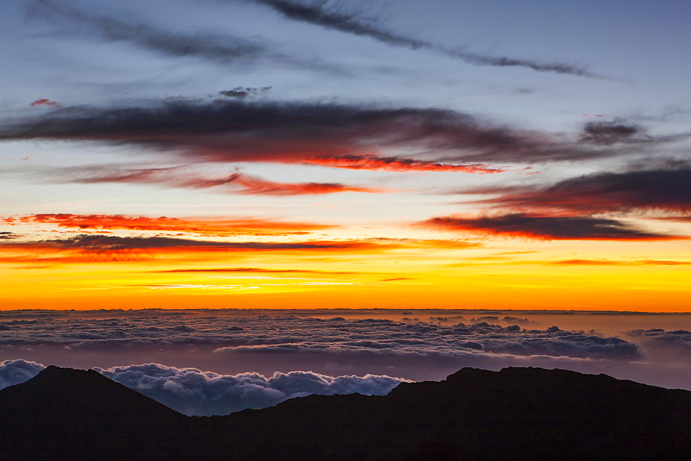 Sunrise at Haleaka Summit, Maui, Hawaii, United States, North America