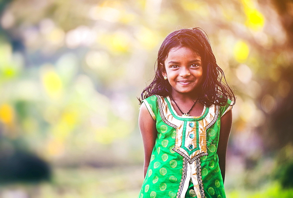 Smiling girl, Kerala, South India, India, Asia