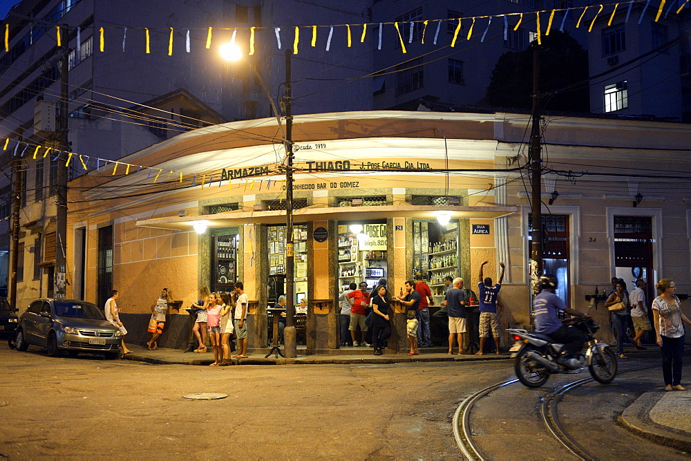 Typical bar in the Santa Teresa neighborhood, Rio de Janeiro, Brazil, South America