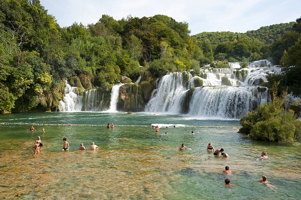 Skradinski buk waterfall, Krka National Park, Sibenik-Knin County, Dalmatia, Croatia, Europe