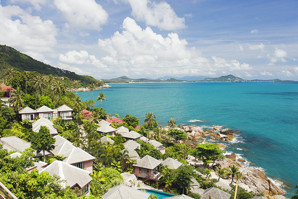 Bungalow complex at Coral Cove Beach, Koh Samui, Thailand, Asia