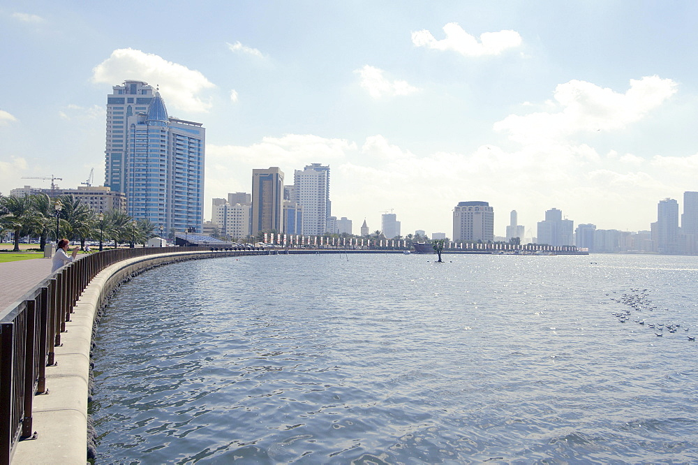 Embankment, Sharjah, Emirate of Sharjah, United Arab Emirates, Asia