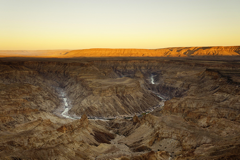 Sunrise over the Fish River Canyon, Richtersveld National Park, Southern Namibia, Namibia, Africa - 832-383370