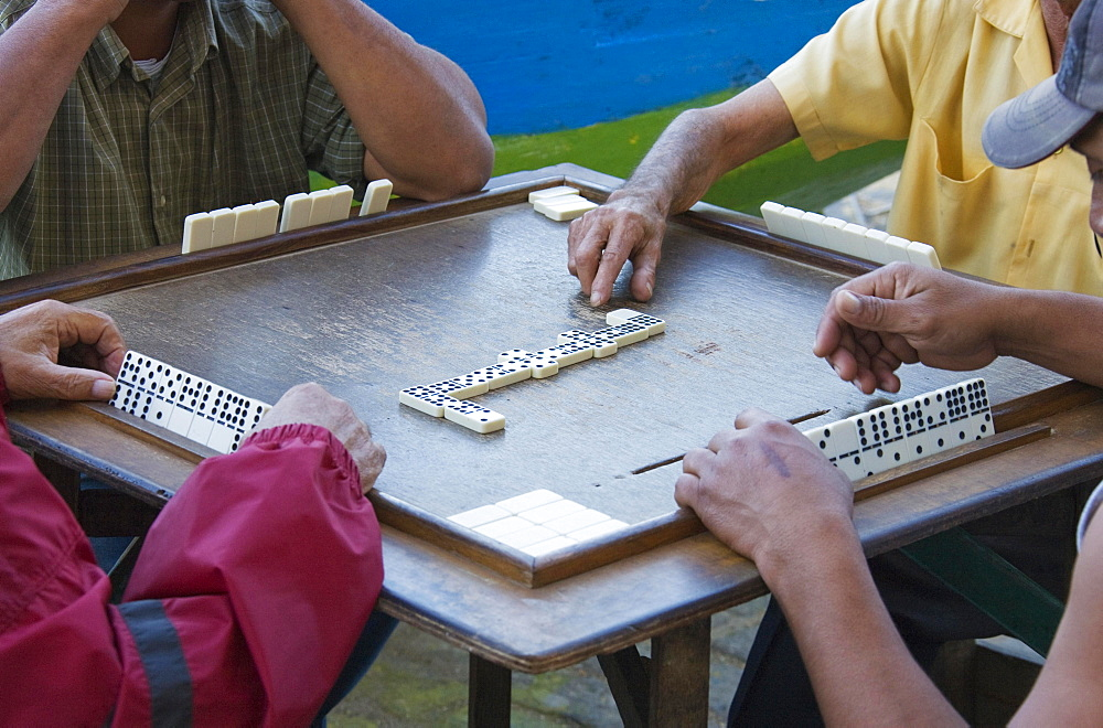 Four men playing dominoes, Havana, Cuba, Central America