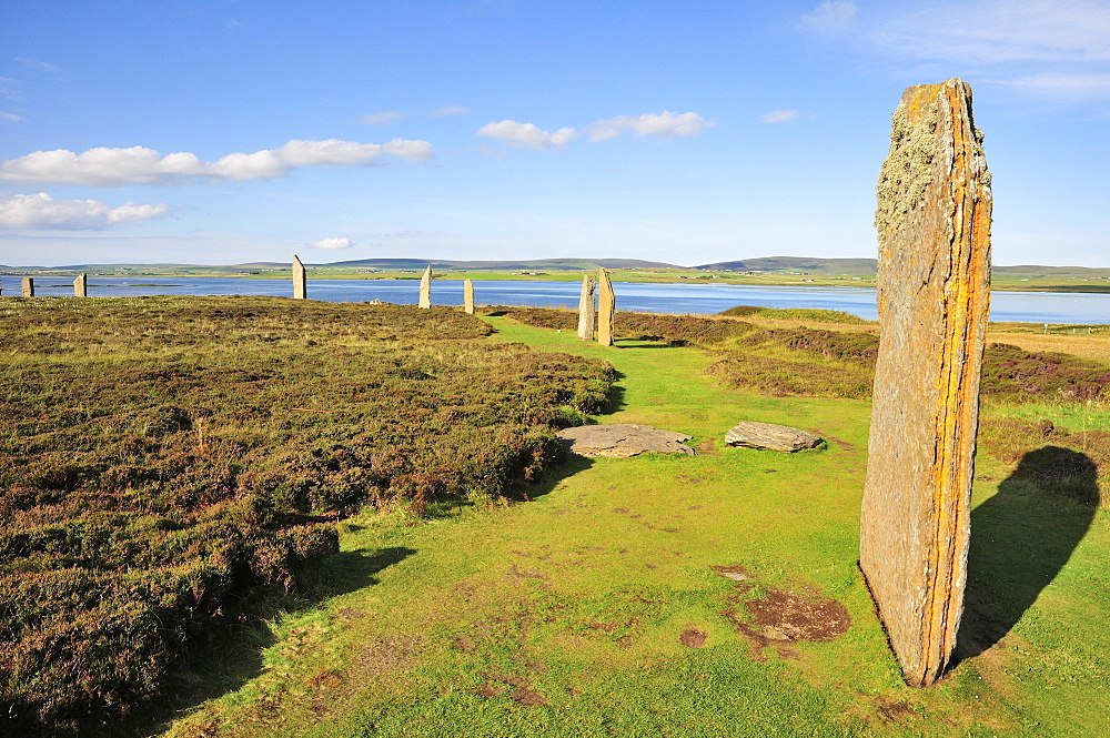 Ring of Brodgar, neolithic henge and stone circle, Mainland, Orkney, Scotland, United Kingdom, Europe