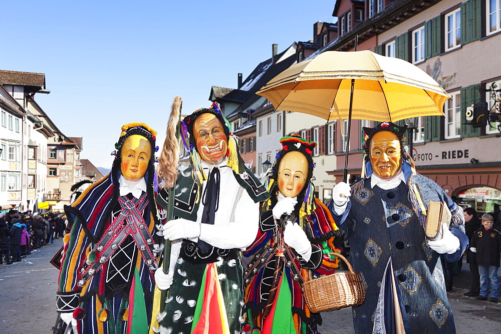 Narrensprung festival, Rottweiler Fastnacht festival, Rottweil, Swabian-Alemannic Fastnacht festival, Black Forest, Baden-Wurttemberg, Germany, Europe