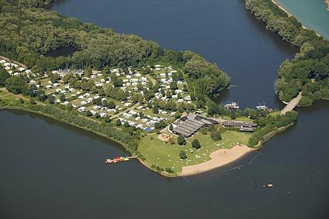 Aerial view, Porta Westfalica, Grosser Weserbogen river loop, Weser river, Minden-Luebbecke, Ostwestfalen-Lippe, eastern Westphalia, North Rhine-Westphalia, Germany, Europe