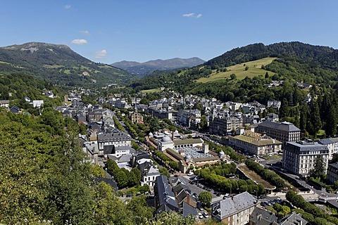 La Bourboule, Parc naturel regional des Volcans d'Auvergne, Auvergne Volcanoes Regional Nature Park, Puy de Dome, France, Europe
