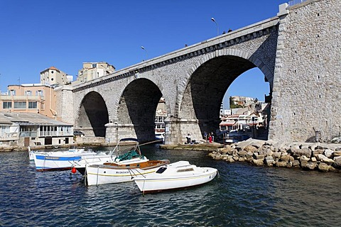 Port of Vallon des Auffes, Marseille, Marseilles, Bouches-du-Rhone, France, Europe