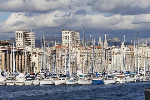 Vieux Port, old port of Marseille, Bouches-du-Rhone, Provence, France, Europe