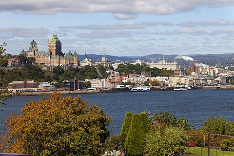 St. Lawrence River and Old Quebec City, UNESCO World Heritage Site, Quebec, Canada