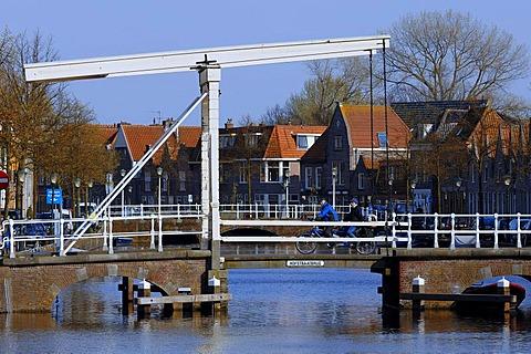 Hofstraatbrug Drawbridge, Alkmaar, North Holland, Holland, Netherlands, Europe