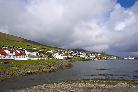 Town of Mivagur, Vagar Island, Faroe Islands, island group in the North Atlantic, Denmark, Northern Europe