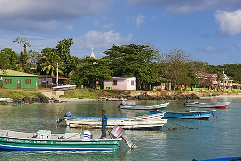 Big Bay, capital of the Caribbean island of Great Corn Island, Caribbean Sea, Nicaragua, Central America