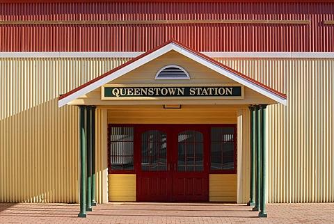 Railway station in Queenstown, Tasmania, Australia