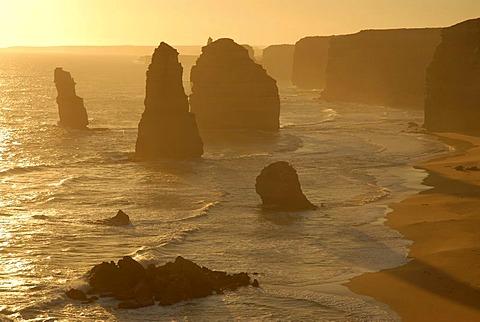 The Twelve Apostles in the evening, Great Ocean Road, Victoria, Australia