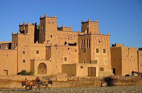The Kasbah Amerhidil near Skoura, Souss-Massa-Draa, Morocco, Africa
