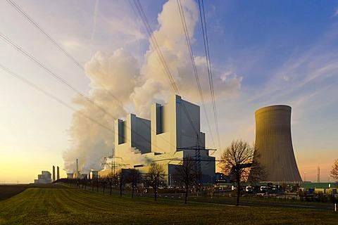 BOA Braunkohlekraftwerk Neurath, lignite-fired power station, Grevenbroich, North Rhine-Westphalia, Germany, Europe