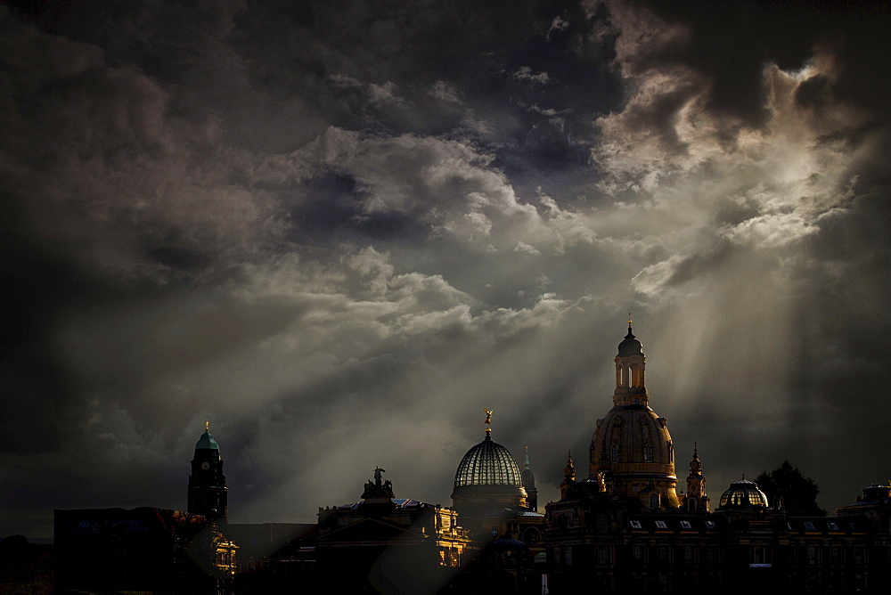 Thunderclouds above Dresden, Saxony, Germany, Europe - 832-42217