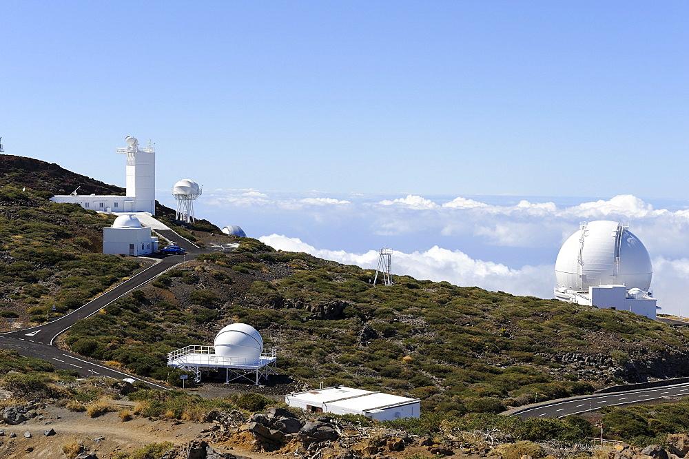 Astronomical Observatory on the Roque de los Muchachos, Gran Telescopio Canarias, telescope, La Palma, Canary Islands, Spain, Europe, PublicGround