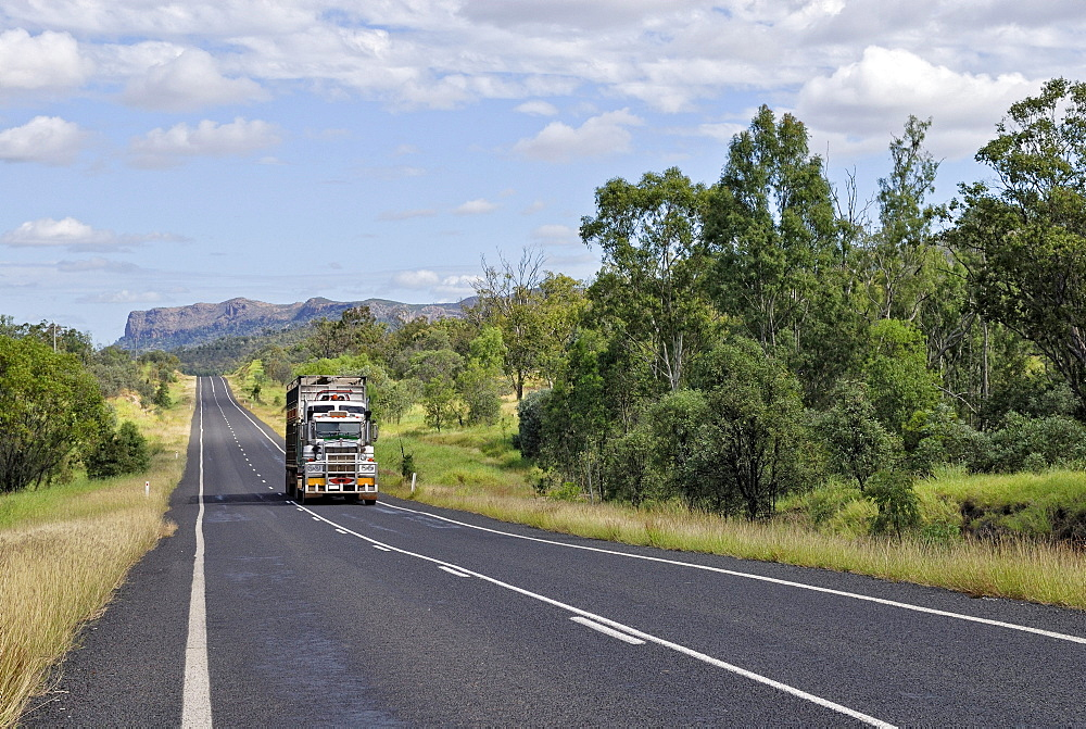 Gregory Dawson Highway near Springsure, Queensland, Australia