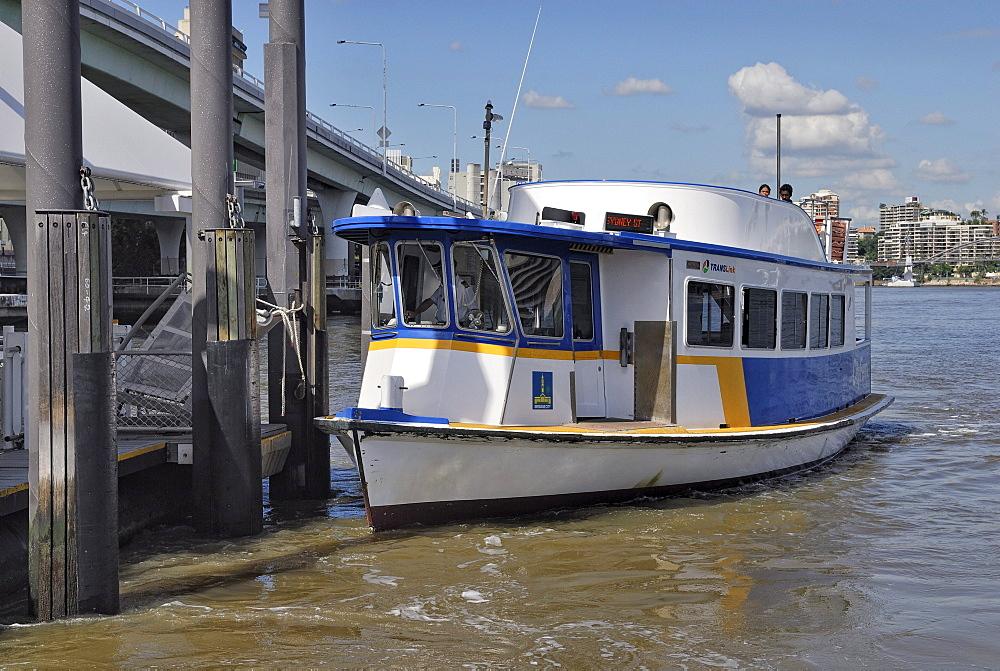Trans Link ferry, Brisbane River, Brisbane, Queensland, Australia