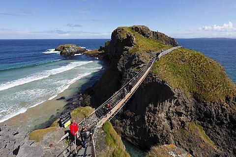 Carrick-a-Reed Rope Bridge, County Antrim, Northern Ireland, United Kingdom, Europe - 832-43914