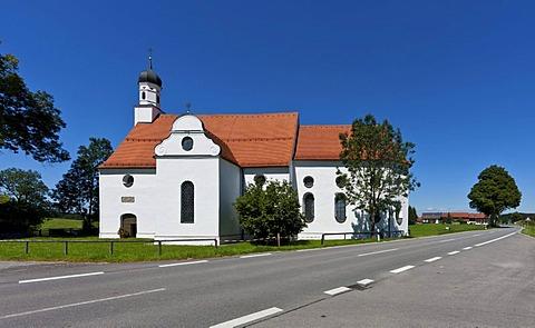 Pilgrimage Church of the Visitation, Ilgen, Steingaden, Upper Bavaria, Bavaria, Germany, Europe, PublicGround