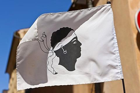 Corsican flag, Ajaccio, Corsica, France, Europe