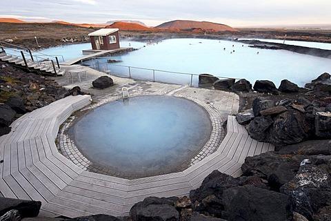 Geothermal pool, Myvatn Nature Bath, Myvatn, Iceland, Europe