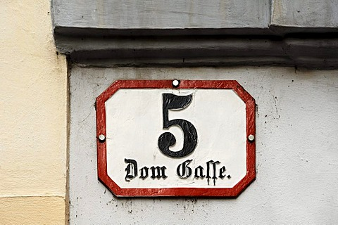 Sign, Dom Gasse street 5, Wolfgang Amadeus Mozart lived here from 1784 to 1787, Vienna, Domgasse street 5, Vienna, Austria, Europe