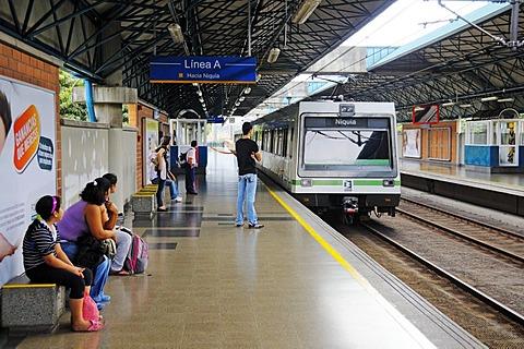 Metro station, Metro de medellin, Medellin, Colombia, South America, Latin America
