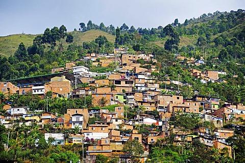 Slums, Comuna 13, Medellin, Colombia, South America, Latin America, America