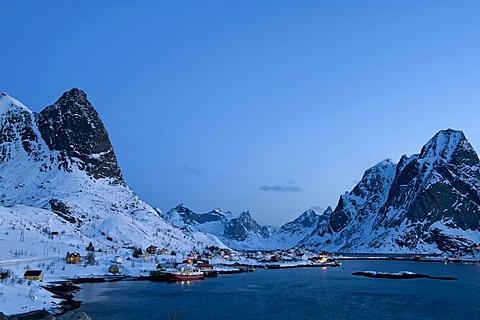 Reine, Lofoten Island of Moskenesoya, Lofoten Islands, North Norway, Norway, Europe