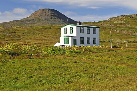 LÊknishusi, the old house of the doctor, Hesteyri, Hesteyrarfjoerur or Joekulfirir, Hornstrandir hiking paradise, Westfjords, Iceland, Europe