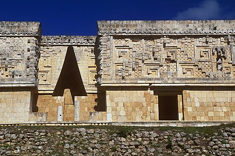 Palace of the Governor, Puuc Mayan ruins of Uxmal, Yucatan, Mexico, North America