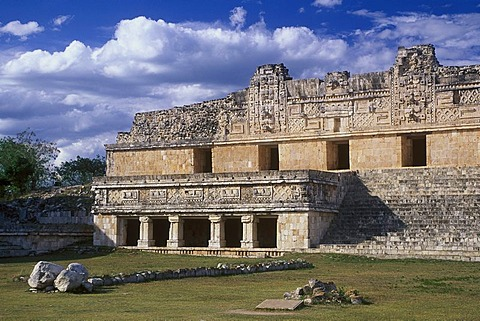 Square of the Nuns, Puuc Mayan ruins of Uxmal, Yucatan, Mexico, North America