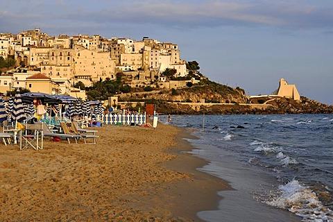 Sandy beach of Lido di Fondi, Torre Troglia, Sperlonga, Lazio, Italy, Europe