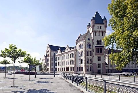 Phoenix Lake, former Huettenwerk Phoenix-Ost steelworks, Hoerder Burg Castle, urban redevelopment site, Zukunftsstandort Phoenix, Dortmund, Hoerde, Ruhr Area, North Rhine-Westphalia, Germany, Europe, PublicGround